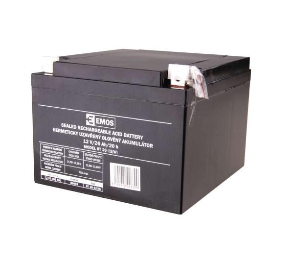 Emos olovený akumulátor 12V/26Ah B9683